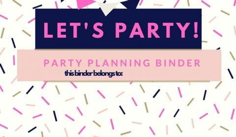 Let's Party Printable Binder