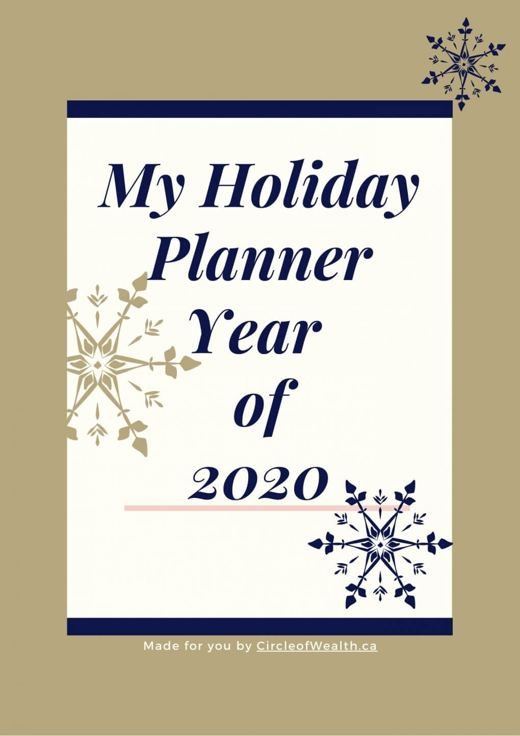 Cover Page for Holiday Planner