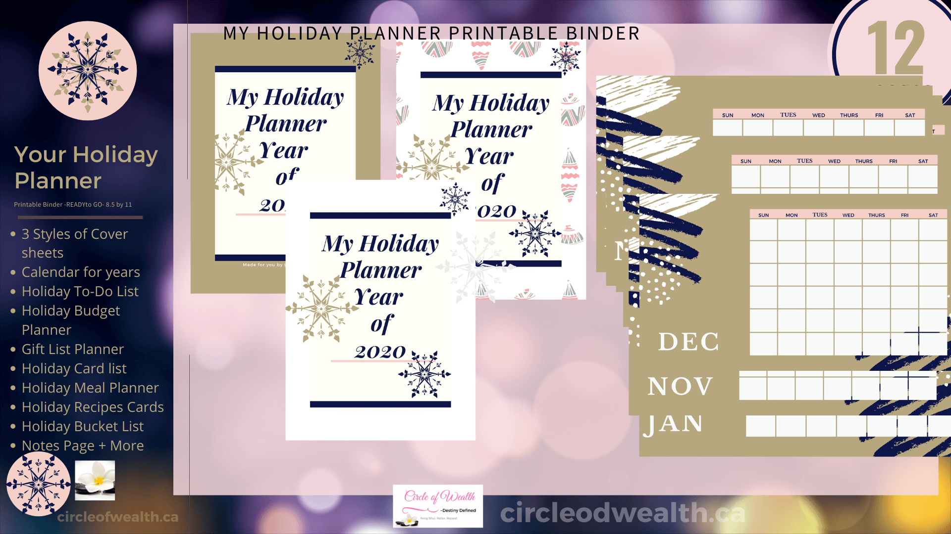 Holiday Christmas Planner