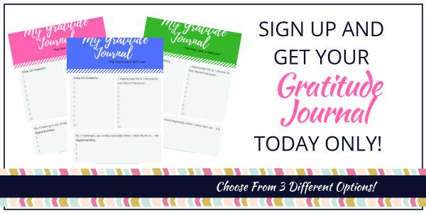 Gratitude Journals Pink Blue or Green