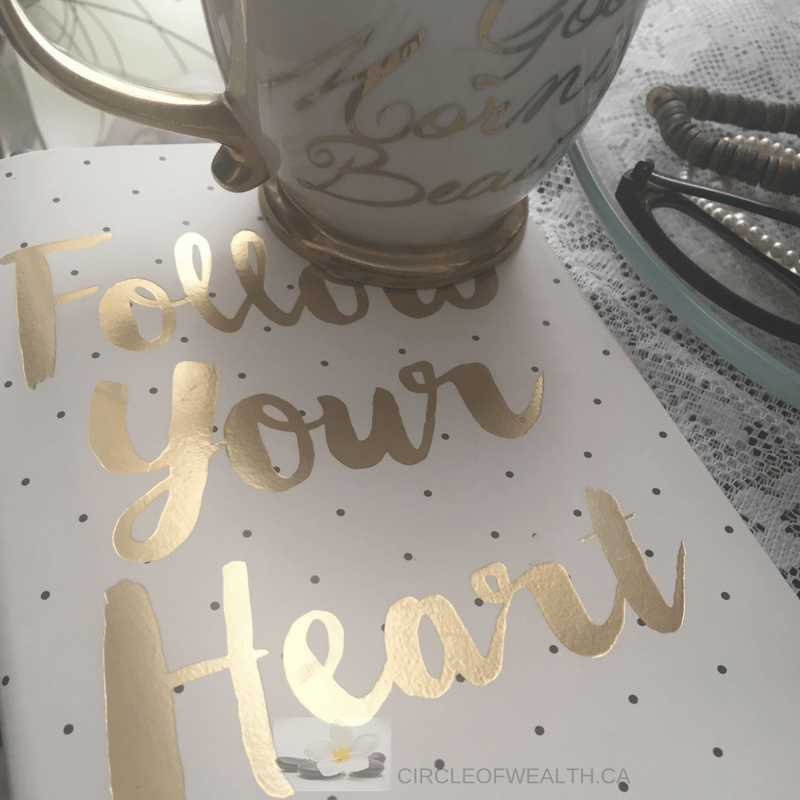 Danielle's Journal and Coffee Mug.