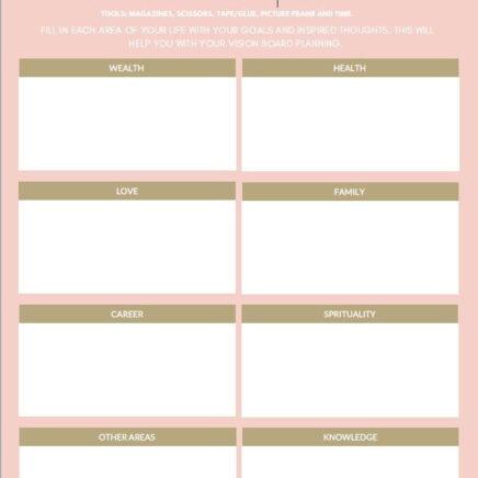 Feng Shui Vision Board Planner
