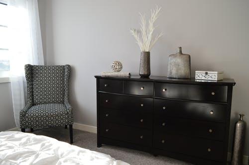 cozy chair in bedroom