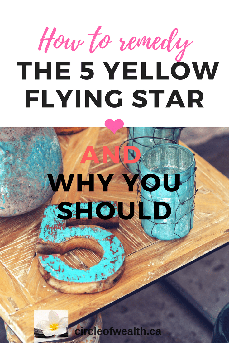 how to remedy the 5 yellow flying star