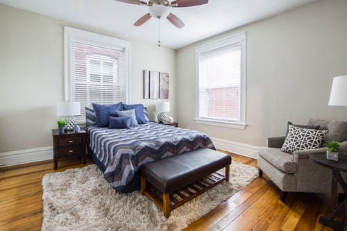 cozy chair in bedroom adds charm